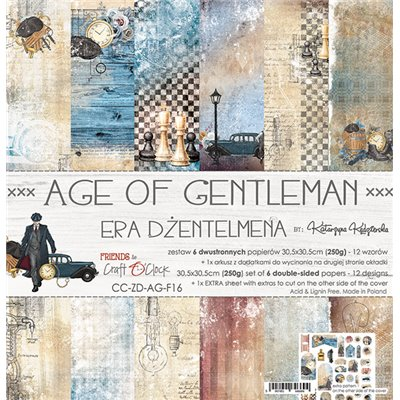 Age Of Gentleman - paper set 30,5x30,5cm