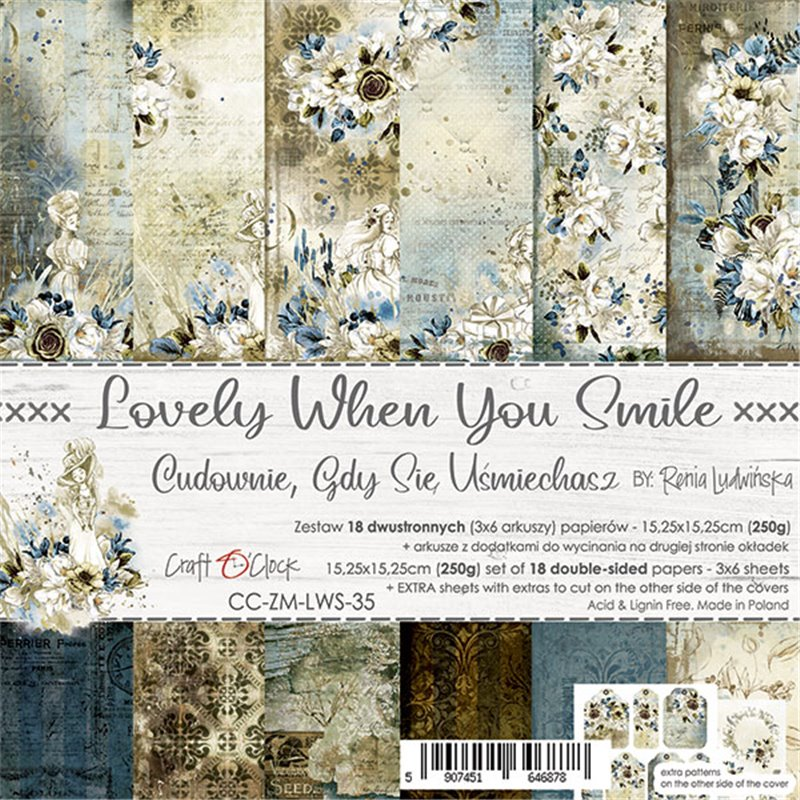 Lovely When You Smile - paper set 15,25 x 15,25 cm