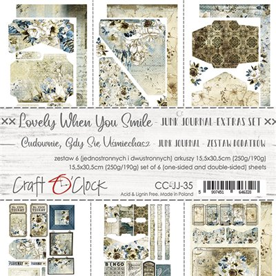 Lovely When You Smile - Junk Journal elements sheet set
