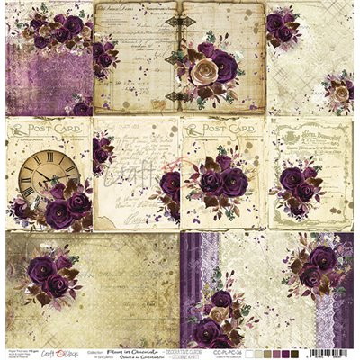Plum In Chocolate - cards elements sheet