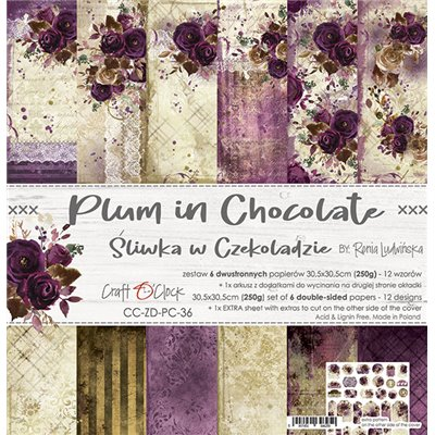 Plum In Chocolate - paper set 30,5x30,5cm
