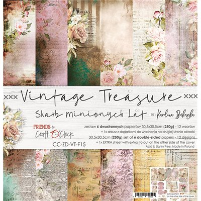 Vintage Treasure - paper set 30,5x30,5cm