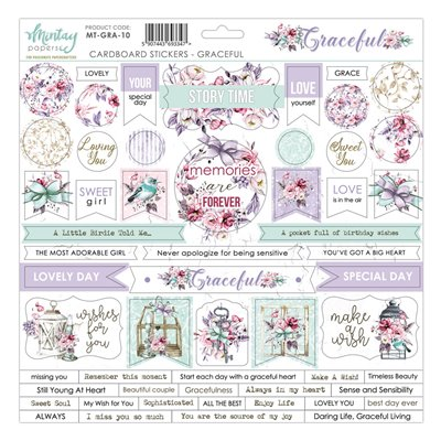 12 X 12 Cardstock Stickers - Graceful