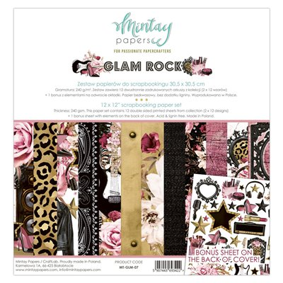 12 x 12 Paper Set - Glam Rock