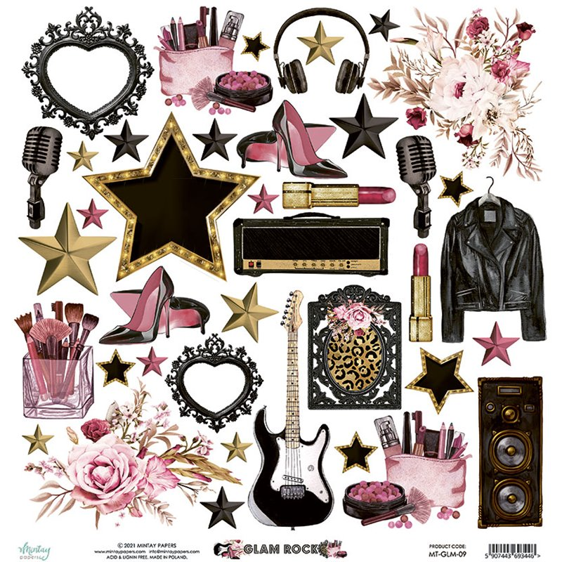 12 x 12  Elements Paper - Glam Rock