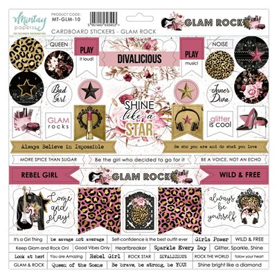 12 X 12 Cardstock Stickers - Glam Rock
