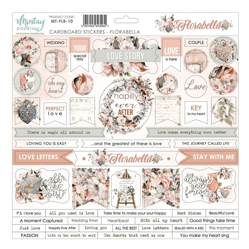 12 X 12 Cardstock Stickers - Florabella