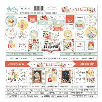 12 X 12 Cardstock Stickers Childhood