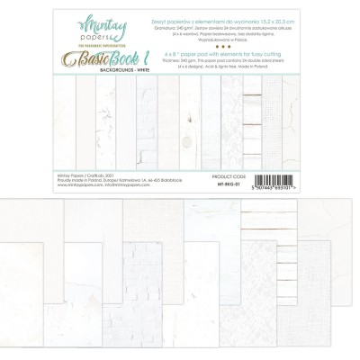 6x8 Basic Book - White