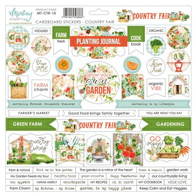 12 X 12 Cardstock Stickers Country Fair