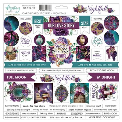 12 X 12 Cardstock Stickers - Nightfall