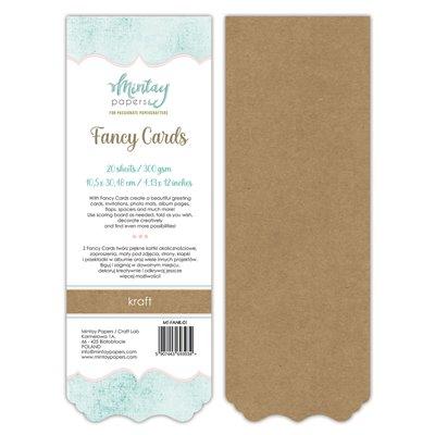 Fancy Cards - Kraft 01, 20 sheets