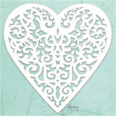 Mintay Chippies - Decor - Filigree Heart