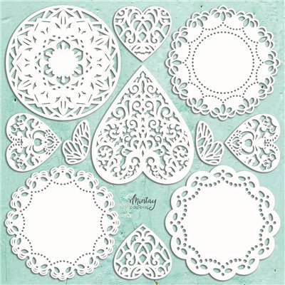Mintay Chippies - Doilies Set, 11 pcs