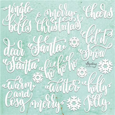 Mintay Chippies - Decor -Christmas Words - 22 pcs