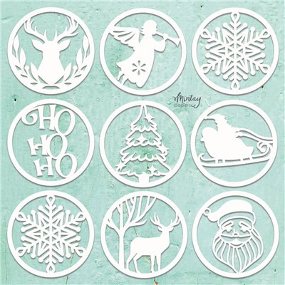 Mintay Chippies - Decor - Christmas Circles - 9 pcs