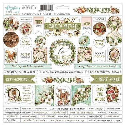 12 X 12 Cardstock Stickers - Woodland